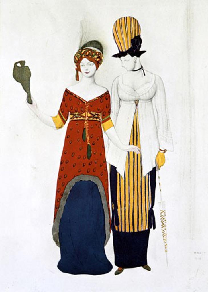 Stock Photo: 1746-2426 Fantasy on modern costumes, 1910, Leon Bakst, (1866-1924/Russian)