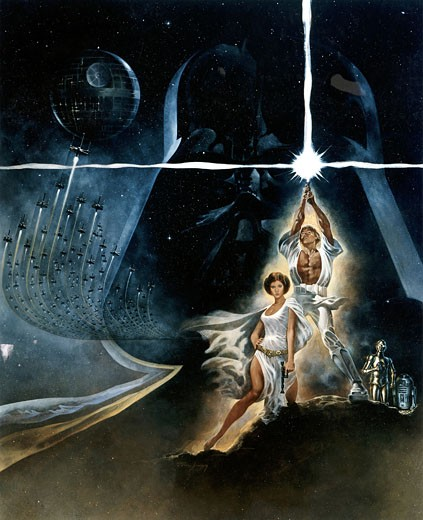 "Stock Photo: 1746-243 Poster for the film ""Star Wars"" 1977 20th Century Fox"