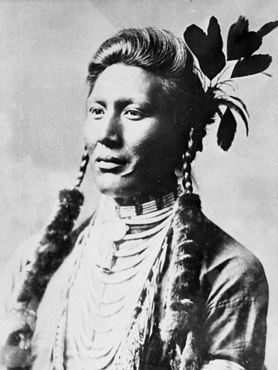 Yellow Dog, North American Indian, From photograph taken c. 1885-1890 : Stock Photo