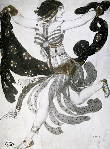 Stock Photo: 1746-2444 Costume for the ballet Thais by Jules Massenet., Leon Bakst, (1866-1924/Russian)