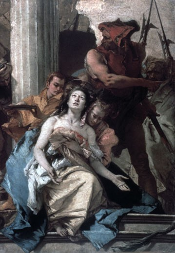 Stock Photo: 1746-2446 The martyrdom of St. Agatha Giovanni Battista Tiepolo (1696-1770 Italian)