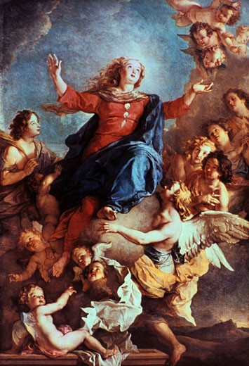 "Stock Photo: 1746-2463 Lafasse (1636-1718), ""Assumption of the Virgin"". Painting"