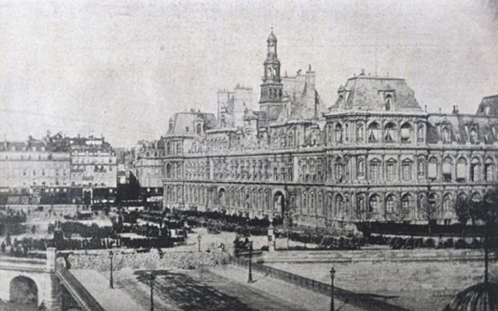 Ruins of Tuilleries Palace in Paris, 1871 Paris Commune (Photograph). : Stock Photo