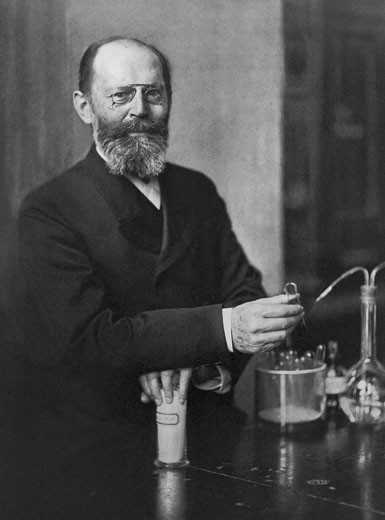 Stock Photo: 1746-2593 Emil Fischer (1852-1919) German chemist: Nobel prize for chemistry 1904.