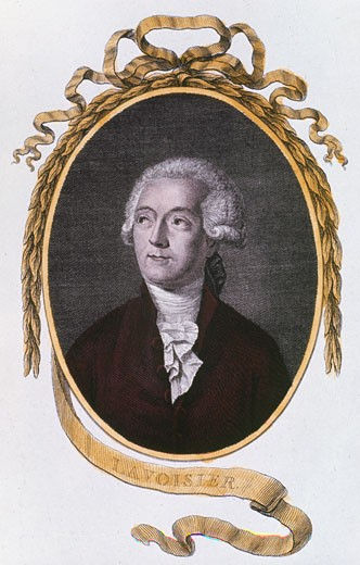 Stock Photo: 1746-2612 Antoine Laurent Lavoisier, 18th century French chemist, 1801. Among other achievements, Lavoisier (1743-1794) was one of the discoverers of oxygen, and established the laws of chemical combination.