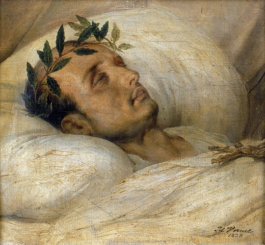 Stock Photo: 1746-2775 Napoleon on his deathbed, May 1821, Horace Vernet, 1789-1863, French,  Oil on canvas 1825, National Museum of the Legion of Honour, Paris