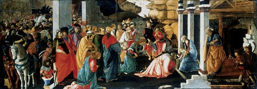 Stock Photo: 1746-2805 The Adoration of the Magi Sandro Botticelli (1444-1510 Italian) National Gallery, London, England