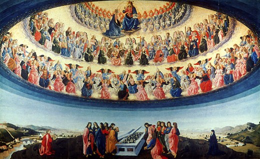 Stock Photo: 1746-2806 The Assumption of the Virgin Francesco Botticini (ca.1446-1497 Italian) National Gallery, London, England