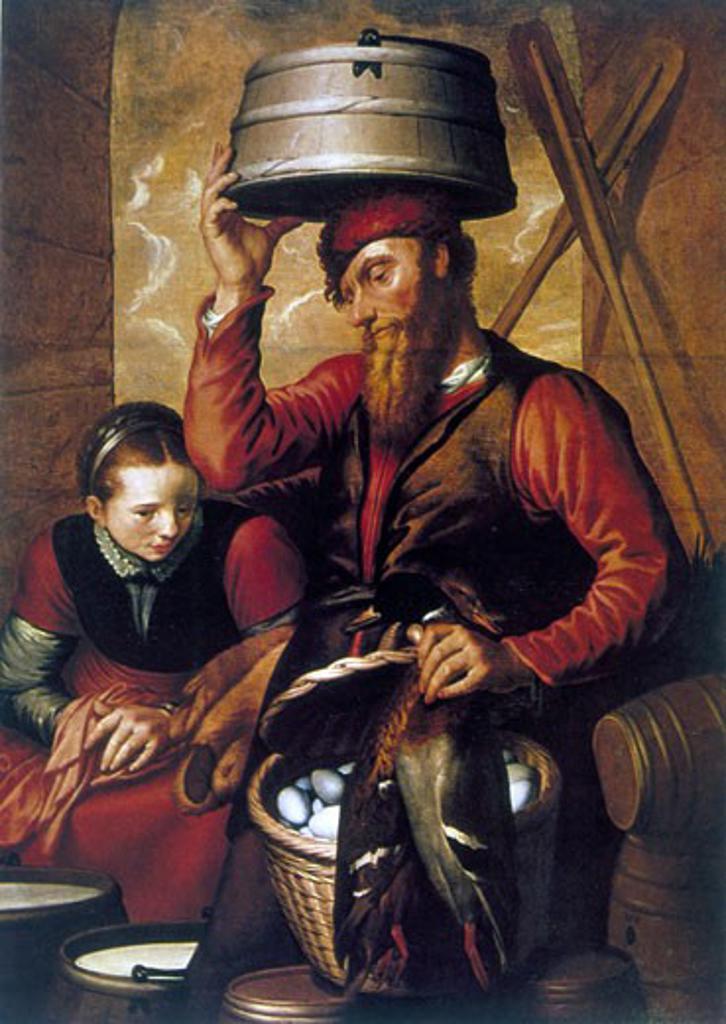 Stock Photo: 1746-2855 The Game Dealer, Pieter Aertsen (c.1508-1575/Netherlandish)