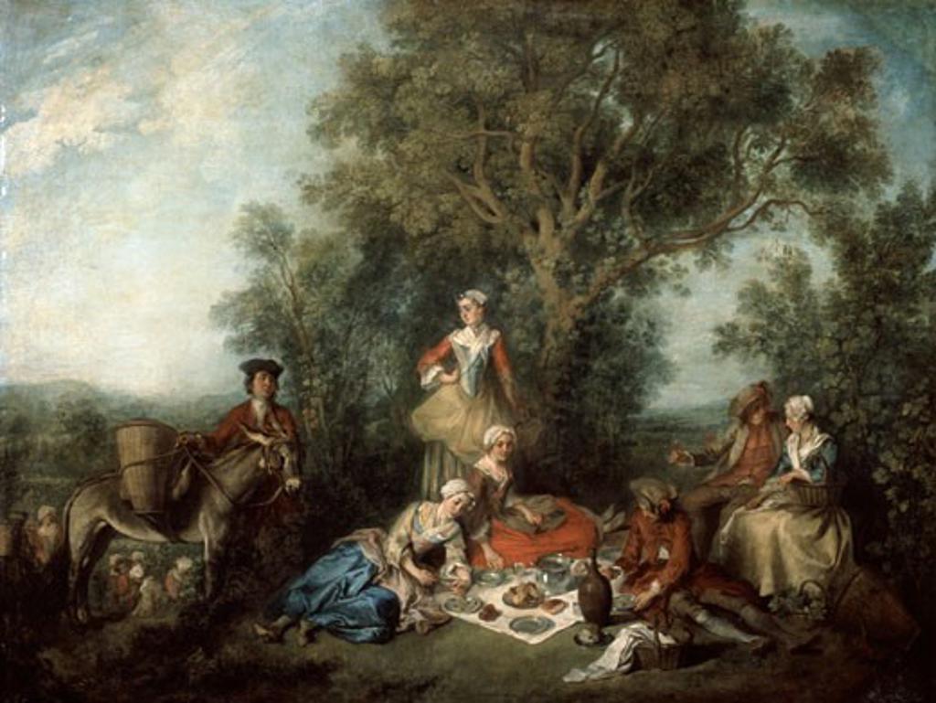 Stock Photo: 1746-2909 L'automne, 1738, Nicolas Lancret, (1690-1743/French), Oil Painting