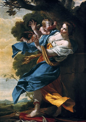 Stock Photo: 1746-2939 The Adoration of the Virgin, Simon Vouet, (1590-1649/French)