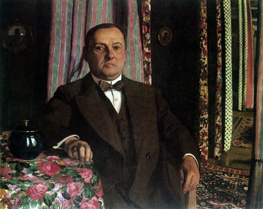 Stock Photo: 1746-2951 Portrait of Mr. Hasen, 1913, F?lix Edouard Vallotton, (1865-1925/Swiss)