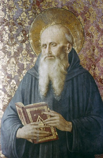 Stock Photo: 1746-2967 St. Jerome Fra Angelico (1400-1455 Italian) Fresco Chapel of Nicholas V, Vatican Palace