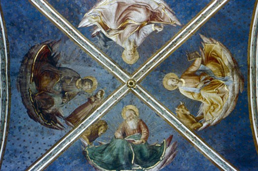 Stock Photo: 1746-2968 The Four Evangelists 1449 Fra Angelico (1400-1455 Italian) Chapel of Nicholas V, Vatican Palace
