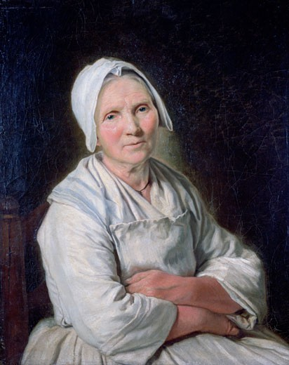 Stock Photo: 1746-3016 Old Woman, La Vieille Femme, 18th Century, Fran?oise Duparc, (1705-1778/French), Oil on canvas, Mus?e des Beaux-Arts, Marseille