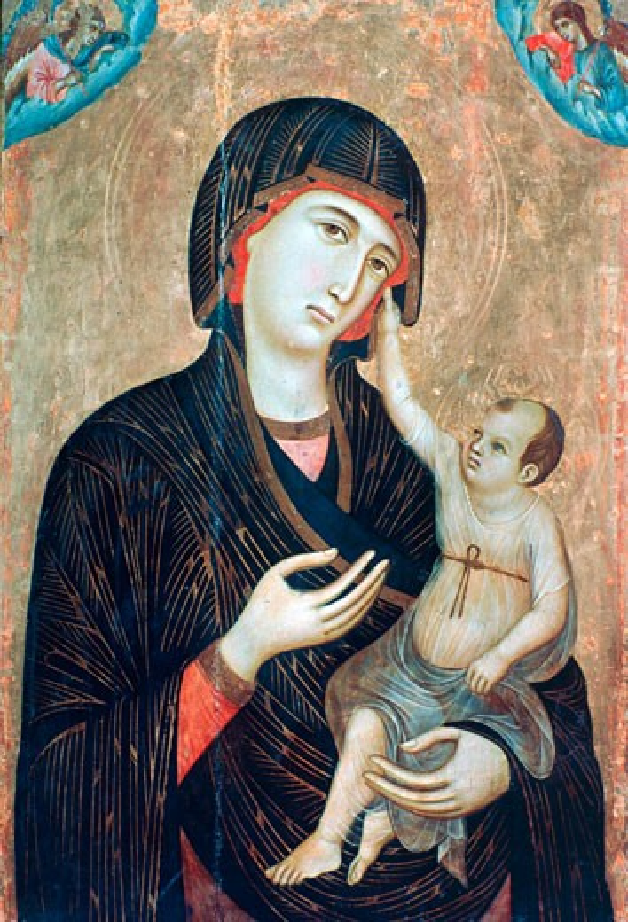 Crevole Madonna c1284 Duccio di Buoninsegna (ca.1255-ca.1319 Italian) Museo dell'Opera del Duomo, Siena, Italy : Stock Photo