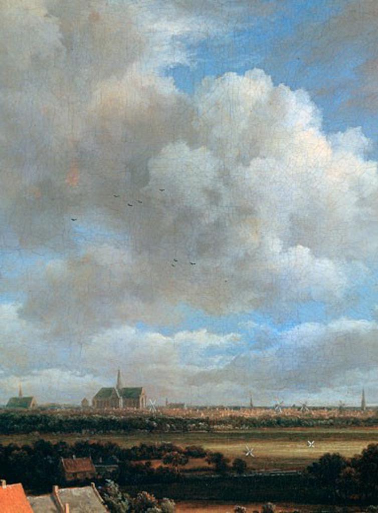 Stock Photo: 1746-3041 View of Haarlem (detail), c1670, Jacob van Ruisdael, (1628-1682/Dutch), Rijksmuseum, Amsterdam