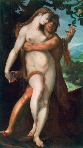 Stock Photo: 1746-3061 Adam and Eve Bartholomaeus Spranger (1546-1611 Flemish)