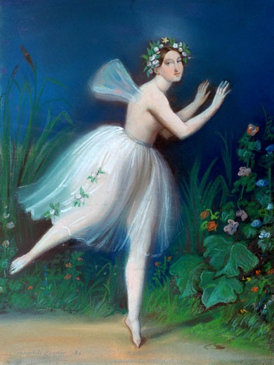 Stock Photo: 1746-3075 Portrait of Carlotta Grisi in Giselle, 1841, Th?ophile Gautier, (1811-1873/French)