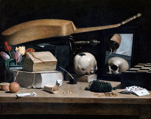 Stock Photo: 1746-3141 Vanitas, 17th Century, Musee du Louvre, Paris, France