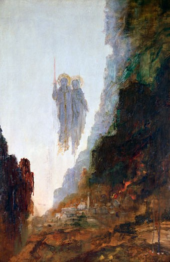 Stock Photo: 1746-3183 Angels of Sodom Gustave Moreau (1826-1898 French) Musee Gustave Moreau, Paris, France