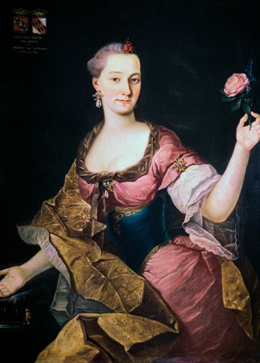 Maria Anna Freyin Von Erberg, Ann Mary, Baroness Erberg, Fortunat Bergant, (1721-1769/Slovenian), Oil on canvas, National Gallery of Slovenia, Ljubljana : Stock Photo