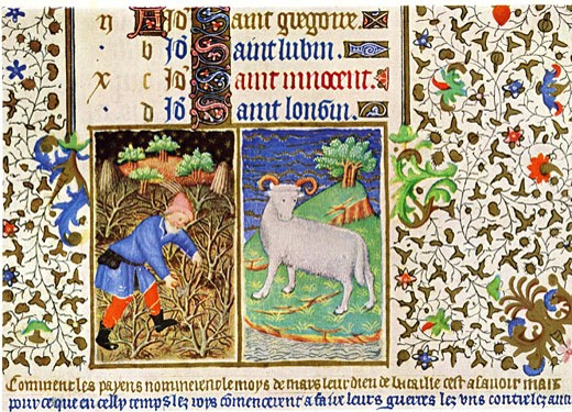 Stock Photo: 1746-3252 March,  Bedford Hours,  illuminated manuscript,  France,  15th century