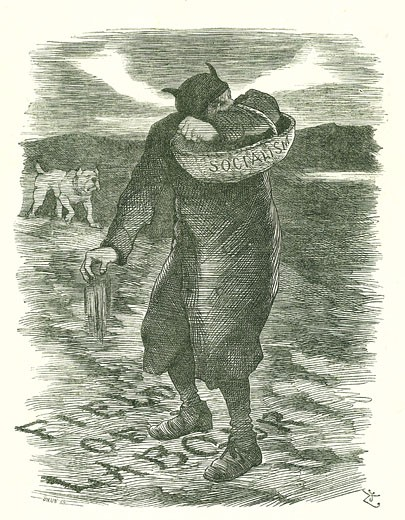 Sowing Tares by John Tenniel,  cartoon,  from 'Punch',  27 February 1886. : Stock Photo