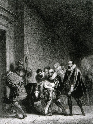 Stock Photo: 1746-3341 Henry IV,  King of France and Navarre (1553-1610),  assassinated by Roman Catholic fanatic Ravaillac,  19th century