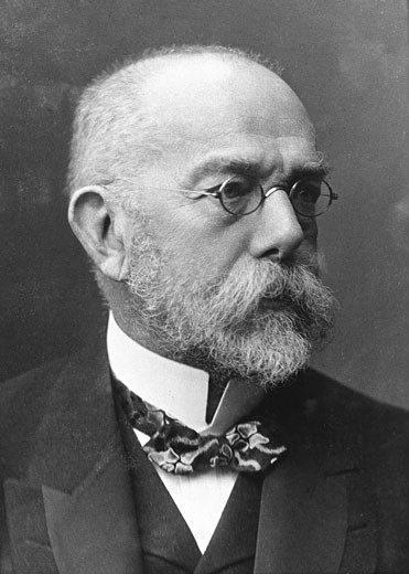 Stock Photo: 1746-336 Robert Koch, (1843-1910), German bacteriologist and physician, Nobel prize for physiology and medicine, 1905