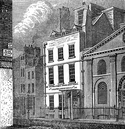 Isaac Newton's house,  wood engraving,  1880,  London,  19th century : Stock Photo