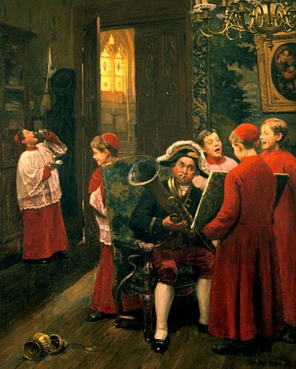 Stock Photo: 1746-3527 Choirboys,  by Paul-Charles Chocarne-Moreau,  1855-1931 French,  oil on canvas,  20th Century