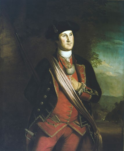 Stock Photo: 1746-362 George Washington Charles Willson Peale (1741-1827 American) Oil on canvas