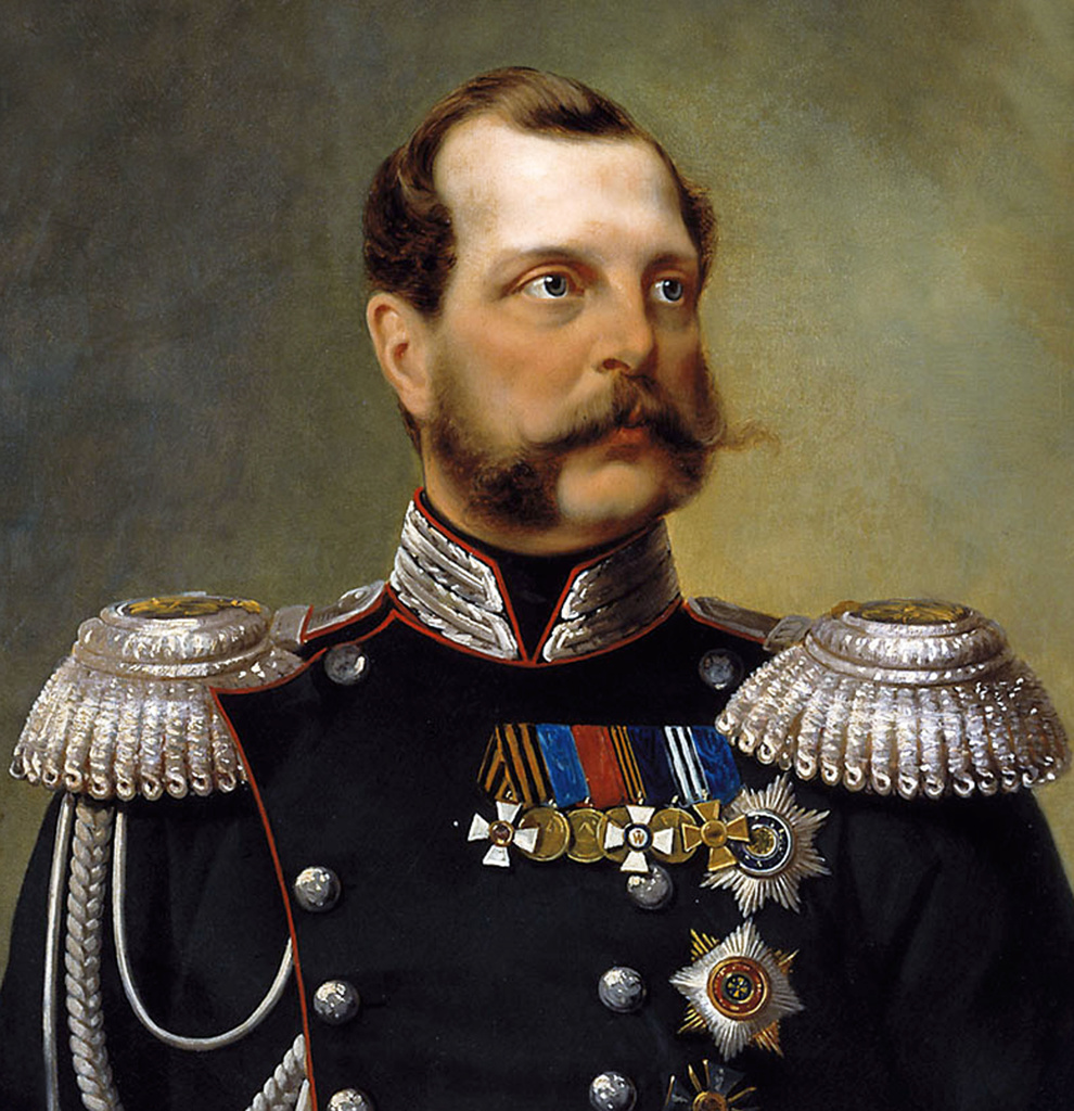Stock Photo: 1746-4174 Alexander II 1818   1881. known as Alexander the Liberator  was the Emperor, or Tsar, of the Russian Empire from 3 March 1855 until his assassination in 1881.