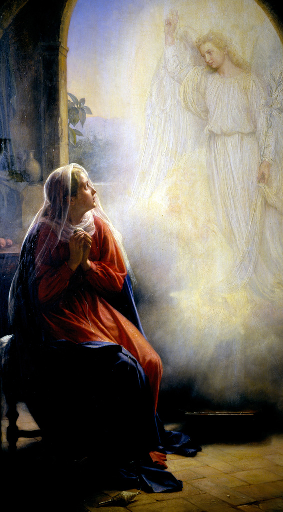Stock Photo: 1746-4211 Carl Heinrich Bloch [1834-1890]Danish painter 'Mary and the Angel' (The Annunciation).