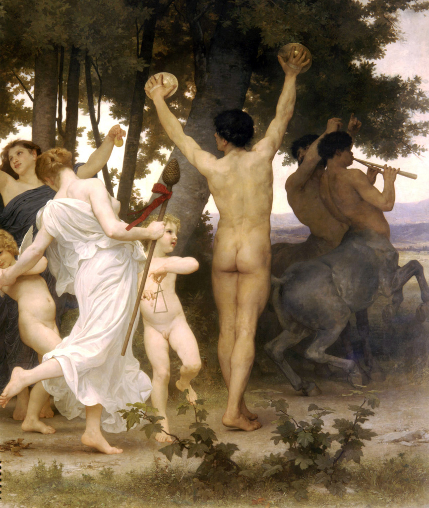 Stock Photo: 1746-4288 Girl Defending Herself Against Love  by William Adolphe Bouguereau