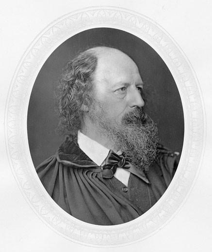 Stock Photo: 1746-441 Alfred Lord Tennyson, (1809-1892), English poet. Photograph published c.1880. Woodburytype