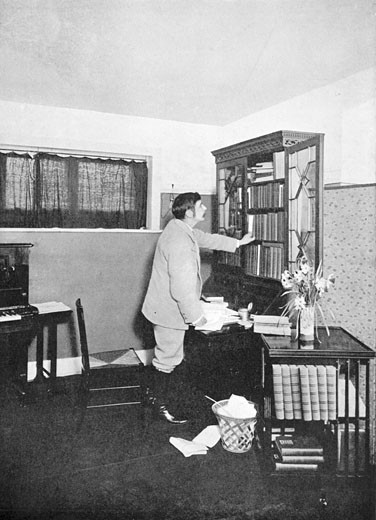 Stock Photo: 1746-443 Herbert George Wells, (1865-1946), English novelist, writer and popular historian. Wells in his study at Spade House, Sandgate, Kent, c.1902