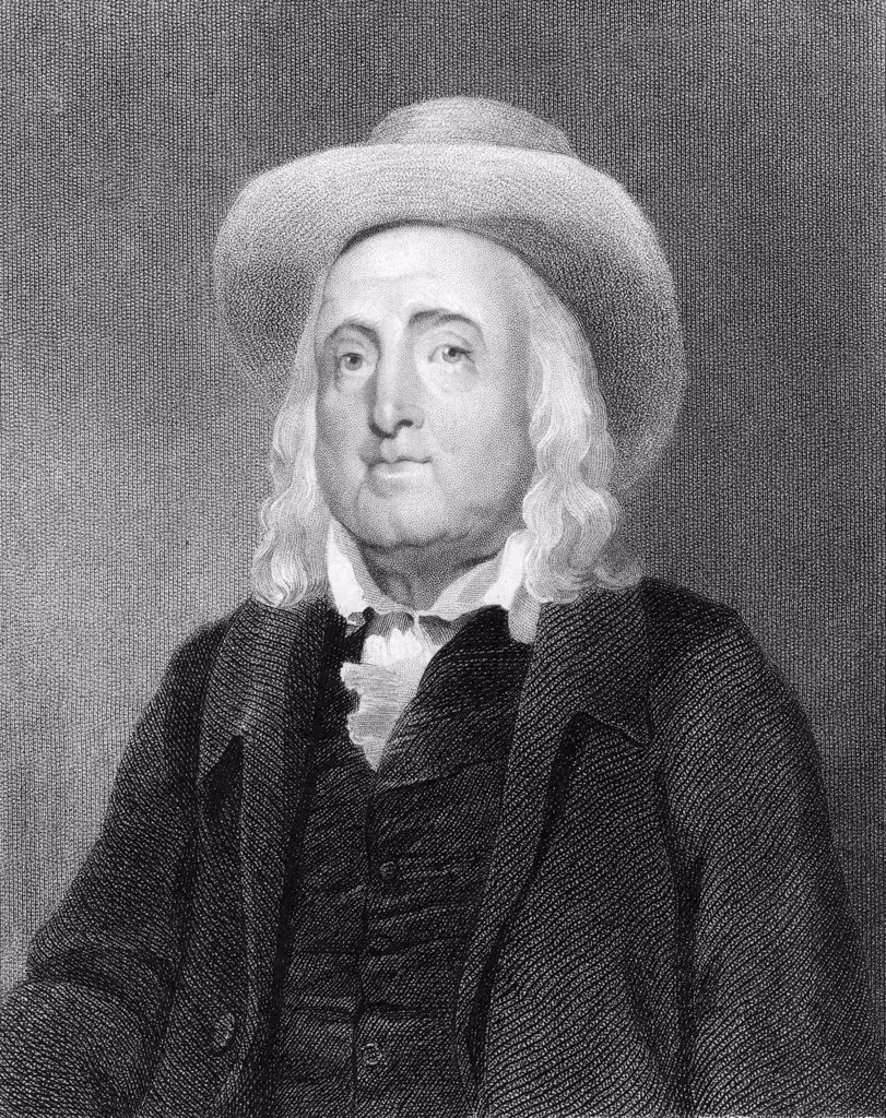 Jeremy Bentham (1748-1832) English social reformer and philosopher (Utilitarianism) A founder of University College, London. Engraving : Stock Photo