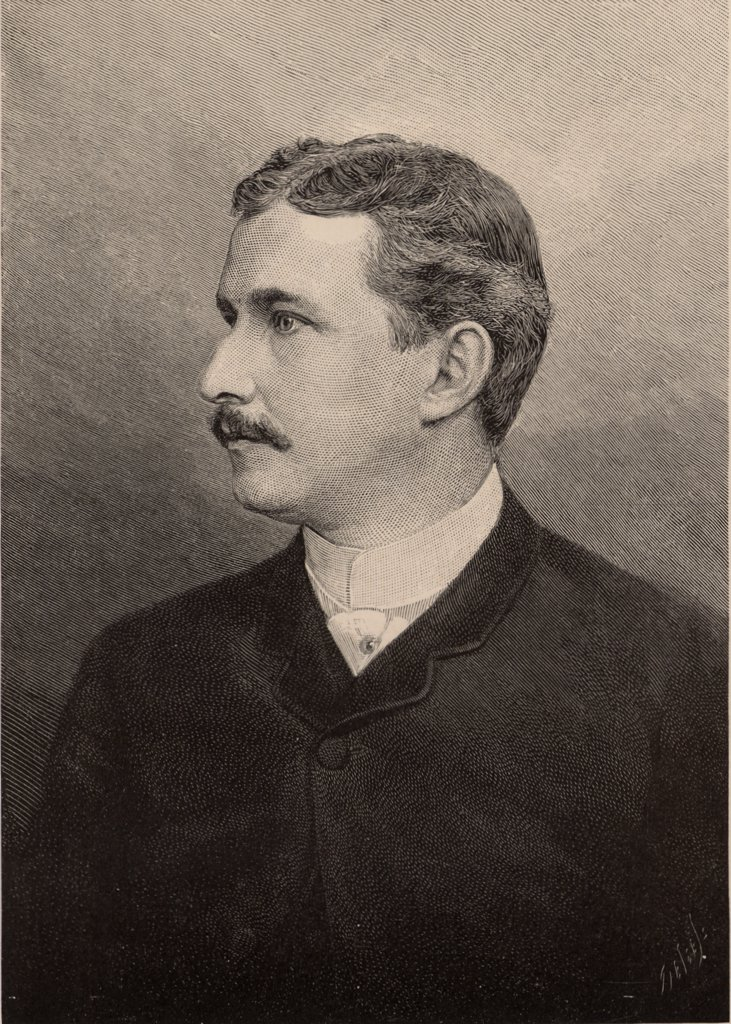 Stock Photo: 1746-4860 Henry Carvill Lewis (1853-1888) American geologist and mineralogist who made a special study of glacial phenomena.  From The Popular Science Monthly (New York, July 1889).