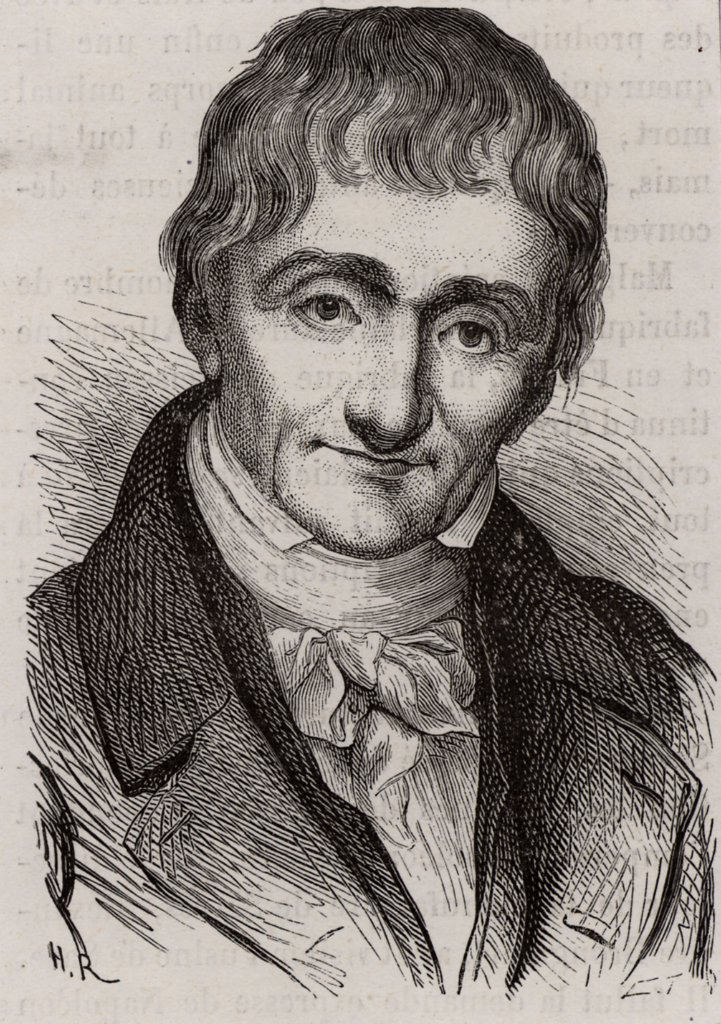 Stock Photo: 1746-4947 Alexandre Brongniart (1770-1847) French geologist and mineralogist. He introduced term Jurassic for Cotswold clays and limestones.  Director of Sevres porcelain factory 1800-1847. Engraving from Les Merveilles de l'Industrie by Louis Figuier (Paris, c1870).