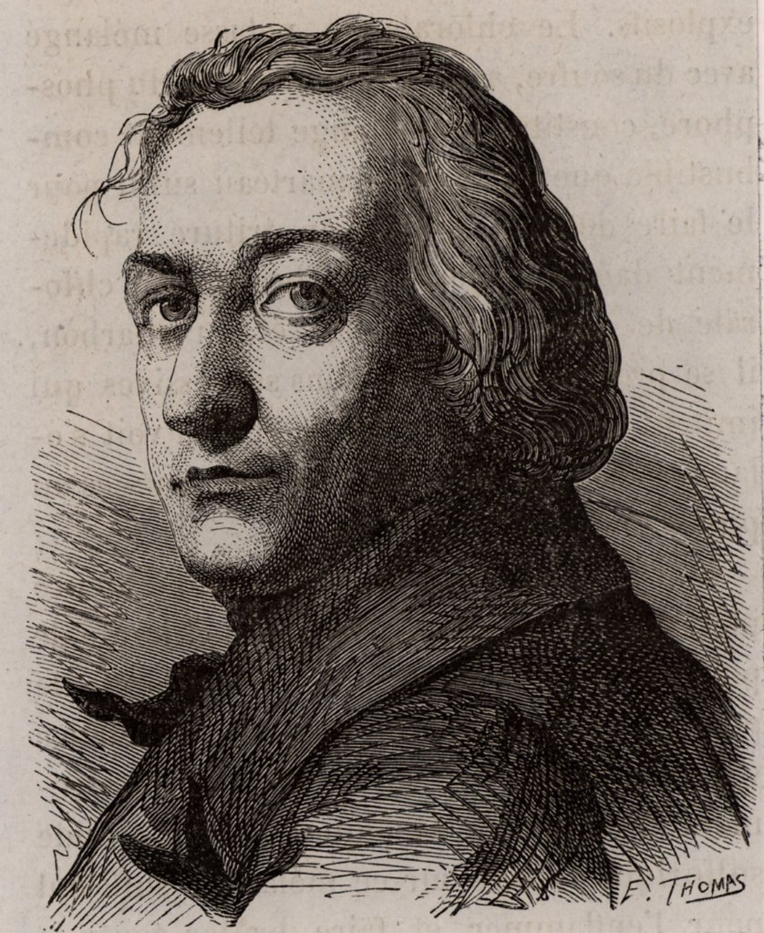 Stock Photo: 1746-4948 Claude Louis, Comte Berthollet (1748-1822) French chemist who assisted Lavoisier. Worked on dyes and chlorine for bleaching for the textile industry. Engraving  from Les Merveilles de l'Industrie by Louis Figuier (Paris, c1870).