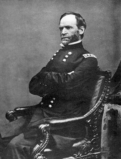 Stock Photo: 1746-630 William Tecumseh Sherman (1820-1891), Union Army General during the American Civil War (1861-1865), After photograph by Matthew Brady taken in 1869