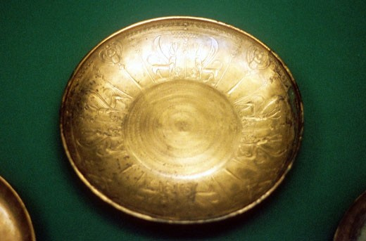 Stock Photo: 1746-697 Bronze bowl from Nimrud. 8th century BC. Phoenician.