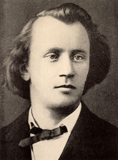 Stock Photo: 1746-710 Johannes Brahms, (1833-1897), German Composer, c.1866. Halftone from a photograph