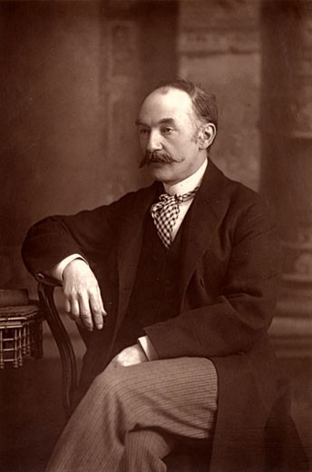Stock Photo: 1746-735 Thomas Hardy, (1840-1928), English novelist and poet, From The Cabinet Portrait Gallery (London, 1890-1894). Woodburytype after photograph by W&D Downey