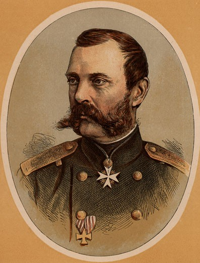 Stock Photo: 1746-745 Alexander II (1818-1881), Tsar of Russia, Colour-printed wood engraving