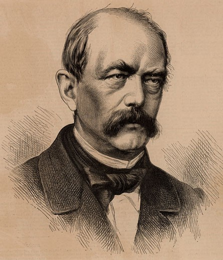 Stock Photo: 1746-854 Otto von Bismarck (1815-98) German/Prussian statesman & Chancellor of Germany, From The Illustrated London News (London, 1866), Engraving
