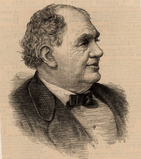 Stock Photo: 1746-864 Phineas Taylor Barnum (1810-1891) American showman 1884 Engraving