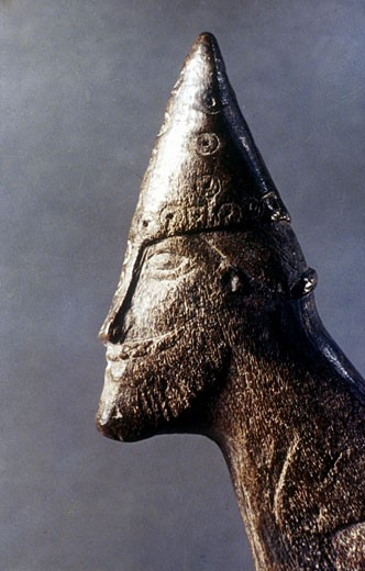 Stock Photo: 1746-936 Head of a Viking warrior. National Historical Museum, Stockholm